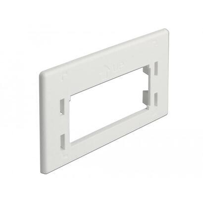 delock-86290-delock-keystone-placa-adaptadora-blanco