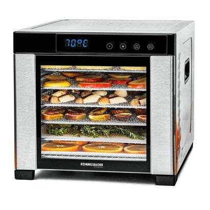 rommelsbacher-da-900-deshidratador-de-alimentos-negro-acero-inoxidable-600-w
