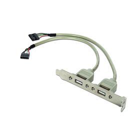 gembird-bracket-usb-2-puertos-hembra-25cm