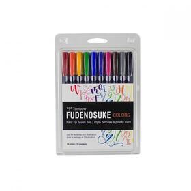 tombow-fudenosuke-rotulador-caligrafia-punta-elastica-dura-surtidos-estuche-de-10