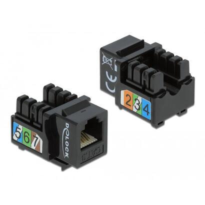 adap-delock-keystone-rj12-to-lsa-cat3-utp-black
