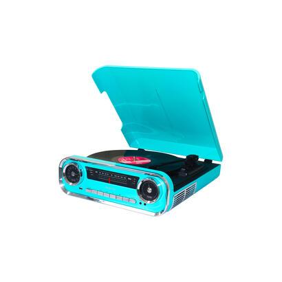 lauson-01tt15-azul-tocadiscos-vintage-3-velocidades-bluetooth-usb-grabacion-mp3-fm