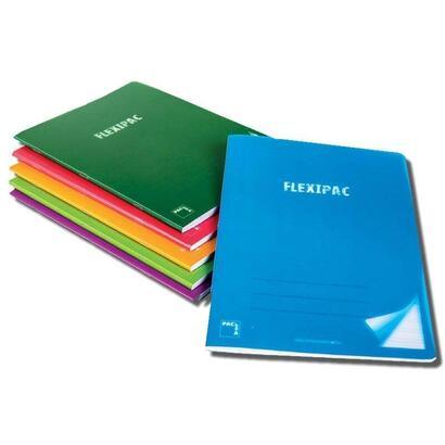 pack-6-libretas-sam-pacsa-flexipac-20056-a4-48-hojas-papel-blanco-90gr-cuadricula-4x4-colores-surtidos-polipropileno