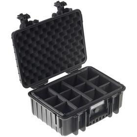 b-w-outdoor-case-type-4000-inserto-de-particion-acolchado-negro