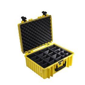 b-w-outdoor-case-type-6000-inserto-de-particion-acolchado-amarillo