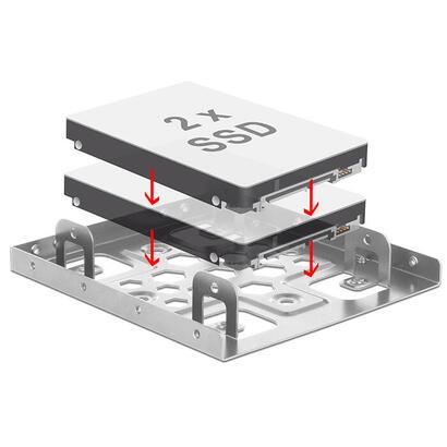 delock-marco-de-instalacion-2x-25-a-35-aluminio-plata