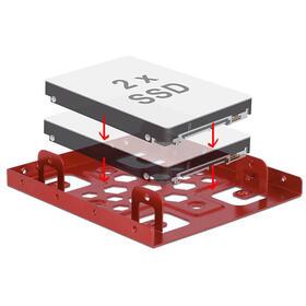 delock-marco-de-instalacion-2x-25-a-35-aluminio-rojo
