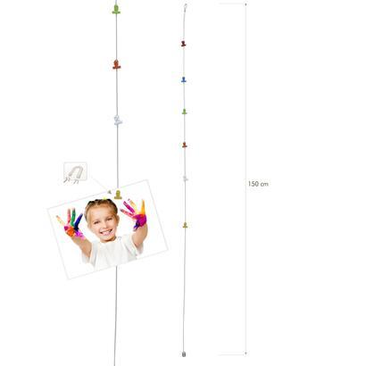 deknudt-percha-con-6-clips-fotograficos-coloridos-y-magneticos