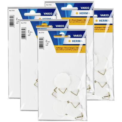 colgadores-para-cuadros-herma-5x10-30-mm-hidrosoluble-engomado-5752-50-colgadores