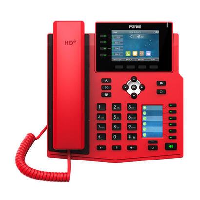 telefono-ip-fanvil-x5u-r-rojo