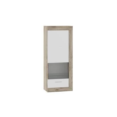 tuckano-vitrina-de-pared-53x132x33-ultra-gris-roble-artesanal-blanco-brillo