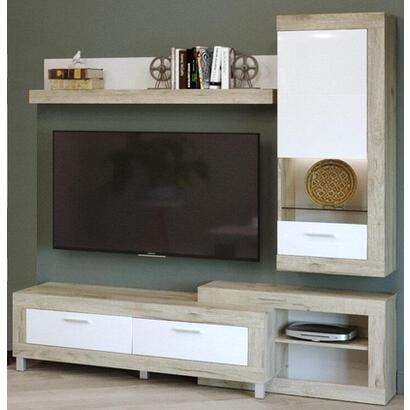 mueble-de-pared-tuckano-195x196x52-ultra-gris-roble-artesanal-blanco-brillo-iluminacion-opcional