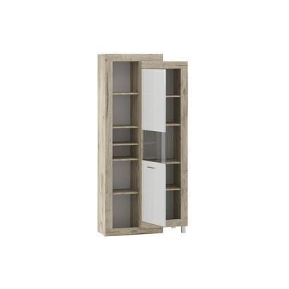 estanteria-tuckano-91x196x42-ultra-gris-roble-artesanal-blanco-brillo
