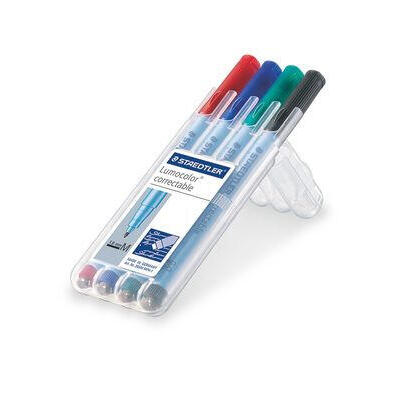 staedtler-rotuladores-lumocolor-correct-m-4st