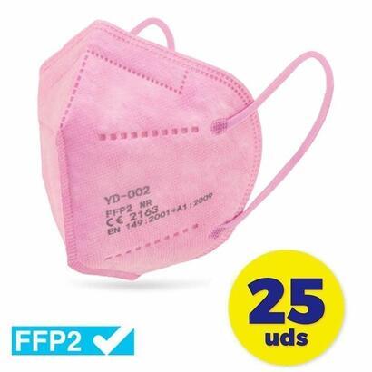caja-de-mascarillas-ffp2-club-nautico-25-unidades-color-rosa-envasadas-de-forma-individual-5-capas-proteccion
