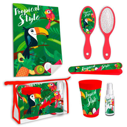 set-neceser-aseo-tucan-tropical-style