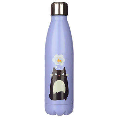 botella-acero-inoxidable-feline-cat