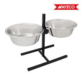set-bowls-comedero-regulable-en-altura-acero-inox-2x28l-soporte-incluido-nayeco