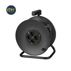 enrollacables-con-protector-termico-3-x15mm-25mts-4-tomas-edm