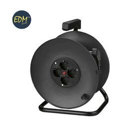 enrollacables-con-protector-termico-3-x15mm-50m-4-tomas-edm