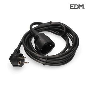 prolongacion-manguera-3x15-ttl-1mts-negra-edm