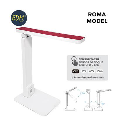 flexo-led-sobremesa-5w-modelo-roma-color-blancorojo-interruptor-regulador-tactil-220-240v-edm