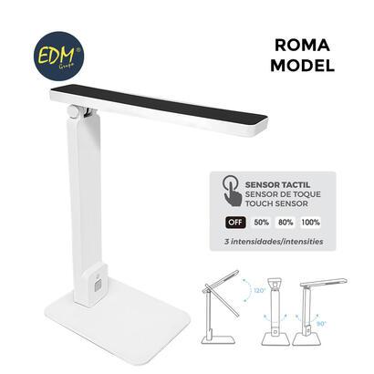 flexo-led-sobremesa-5w-modelo-roma-color-blanconegro-interruptor-regulador-tactil-220-240v-edm