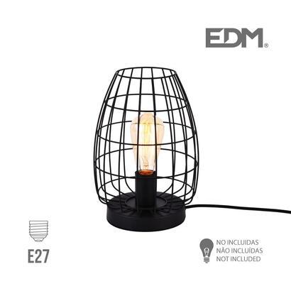 lampara-sobremesa-e27-metalica-edm