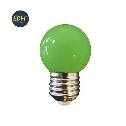 bombilla-esferica-led-e27-15w-80-lm-verde-edm