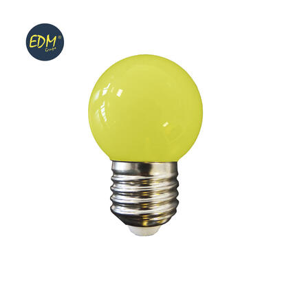 bombilla-esferica-led-e27-15w-80-lm-amarilla-edm