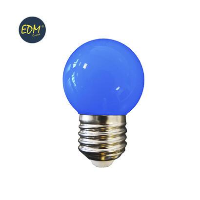 bombilla-esferica-led-e27-15w-80-lm-azul-edm