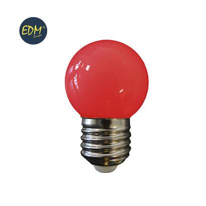 bombilla-esferica-led-e27-15w-80-lm-roja-edm