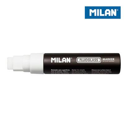 caja-6-rotuladores-blancos-fluoglass-punta-plana-15mm-milan