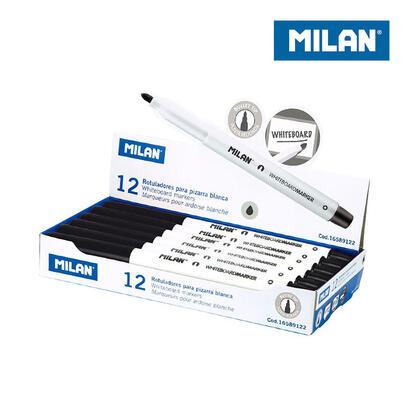 caja-12-rotuladores-negros-para-pizarra-blanca-milan