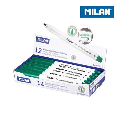 caja-12-rotuladores-verde-para-pizarra-blanca-milan