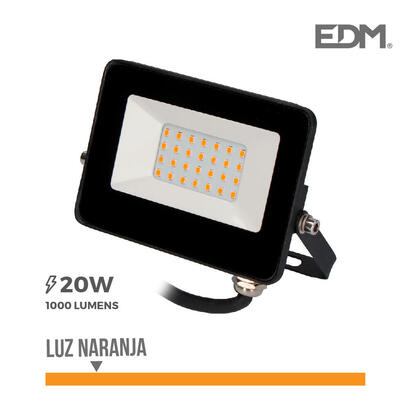 foco-proyector-led-20w-luz-naranja-edm