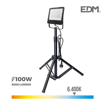 foco-proyector-led-con-tripode-100w-6400k-edm