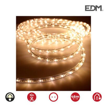 tubo-flexiled-led-2-vias-multifuncion-36ledsmts-blanco-calido-ip44-interior-exterior-edm-euromts