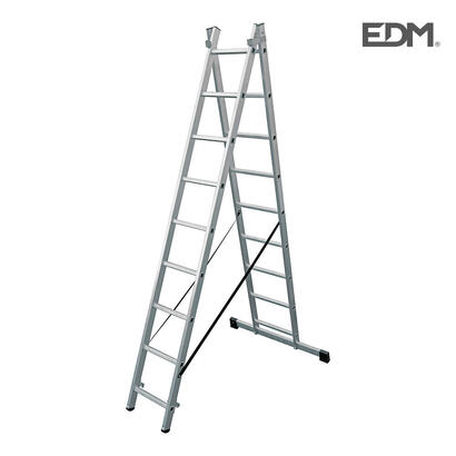 escalera-transformable-aluminio-2x9-peldanos-edm