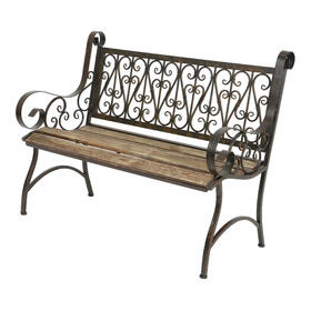 banco-de-hierro-con-asiento-de-madera-bordeaux