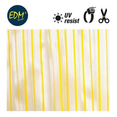 cortina-cinta-amarillo-transparente-plastico-90x210cm-32-tiras-edm