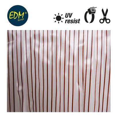 cortina-cinta-marron-oscuro-transparente-plastico-90x210cm-32-tiras-edm