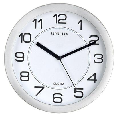 reloj-de-pared-metalizado-unilux-attraction-gris-magnetico-diametro-22cm