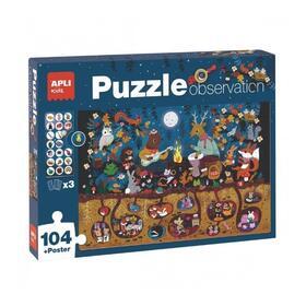 puzle-observation-bosque-apli-kids-18507-104-piezas-poster-3-fichas