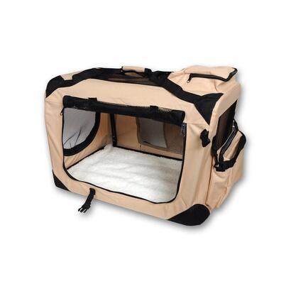 caja-de-transporte-para-perros-colchoneta-talla-m-70cm-beige