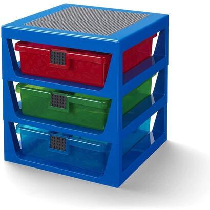 estante-lego-iconic-de-3-cajones-azul