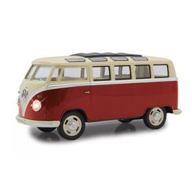 jamara-vw-t1-bus-diecast-124-rojo-con-led