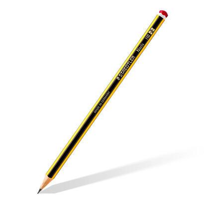 staedtler-noris-120-lapices-de-madera-certificada-paquete-con-12-lapiceros-hb-2-y-un-subrayador-amarillo