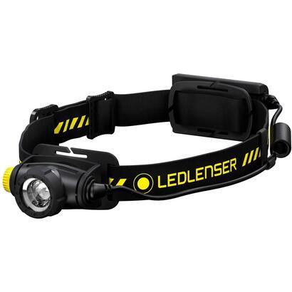 led-lenser-h5r-work-linterna-frontal-negro-amarillo-500lm