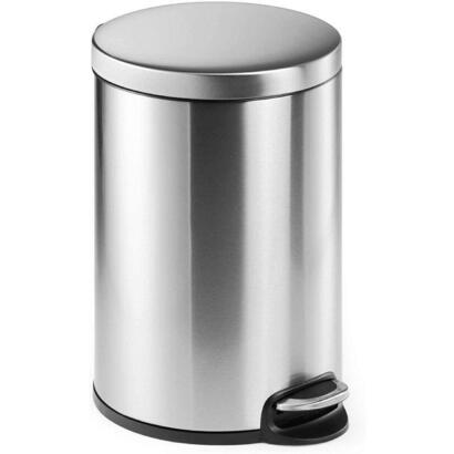 papelera-durable-pedal-bin-stainless-steel-20-plata